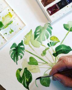 Sunday #inspiration #watercolor #diy #instagram #art #bontanical #krullskrukker