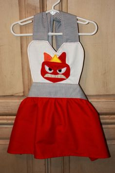 Pixar Inside Out Inspired Anger Dress Up by runningoutamoonlight