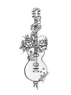 Old School Guitar By Nevermore Ink Designs Interfaces
