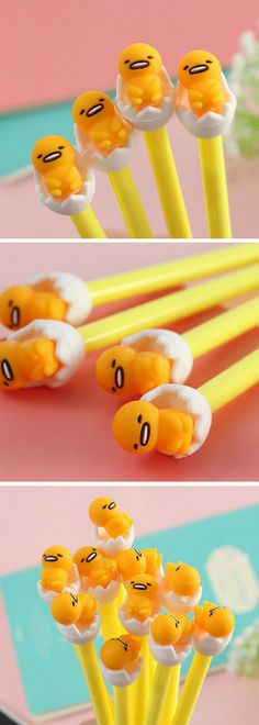 Etsy find! Gudetama is one of the most underrated Japanese characters in my opinion. A lazy egg! Look at him, I just love his facial expressions haha! These pens are a must for any kawaii stationery collection #ad #afflink #gudetama #stationery #kawaii