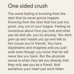 One Sided Crush