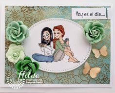 Hilda Designs: Reto de Mayo en SCC: Tarjeta Reunión de Amigas