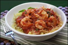 Spaghetti Squash and Shrimp  pts+ = 6