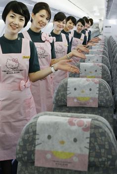 Eva Airways Hello Kitty Themed Airplanes Take Over Taiwan [PHOTOS]