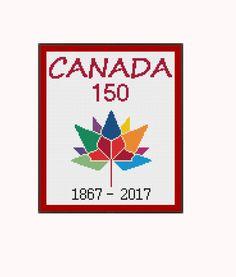 Canada 150 Logo by StitcherzStudio on Etsy