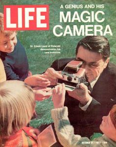Life magazine covers the Land Polaroid SX-70 instant camera.
