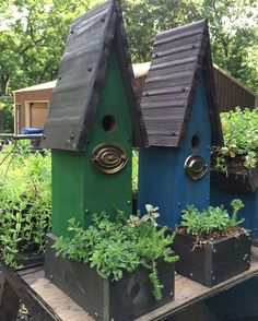 See this Instagram photo by @rebeccanickols • birdhouse planters