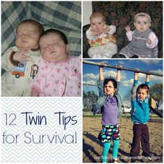 For expectant twin mothers and those already in the throes of caring for twins - these 12 tips will help you survive the early years!