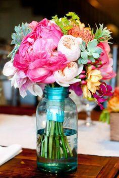 blumensträuße mit wunderschönen blumen dekoration deko mit blumen