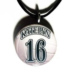 Buy Personalized Volleyball Necklace Sports Pendant Moms Coaches Teams Gifts by sherrollsdesigns. Explore more products on http://sherrollsdesigns.etsy.com