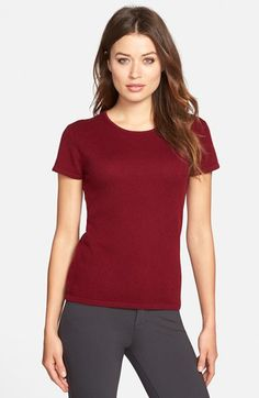 Pure Amici Short Sleeve Cashmere Sweater available at #Nordstrom ...