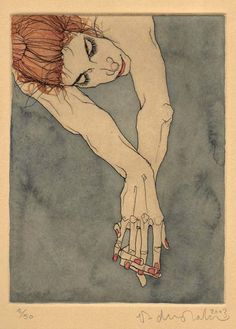 "vjeranski | phillipdvorak: ""Imortelle"" - one of my etchings,..."
