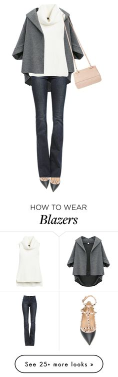 """Valentino Rockstud Flats"" by jaycee0220 on Polyvore featuring Valentino, Frame Denim, White House Black Market and Givenchy"