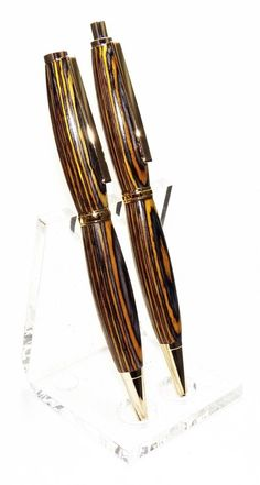 Handmade Wood Pen and Pencil Set Color Grain by PensbyChrisdotcom, $49.99