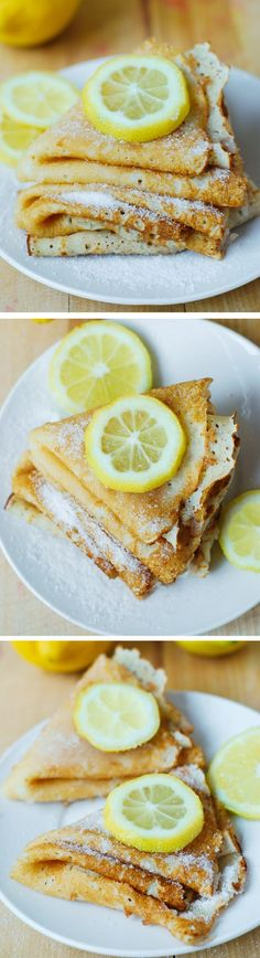Lemon Sugar Dessert Crepes