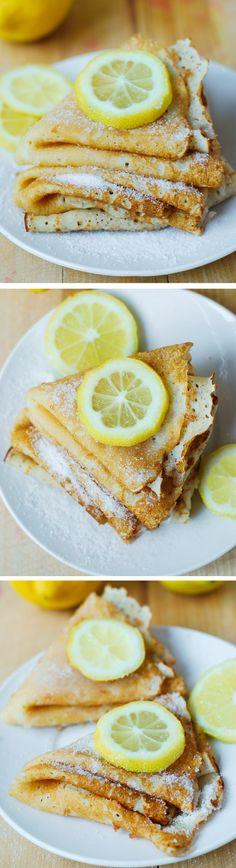 Lemon Sugar Dessert Crepes - easy-to-make and so delicious! easy desserts