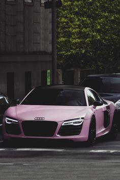 "classyhustler: "" For my lady followers, Audi R8 V10 Plus matte pink | photographer """
