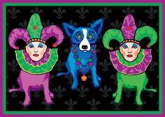 Musings of an Artist's Wife: Mardi Gras Silkscreens: A History