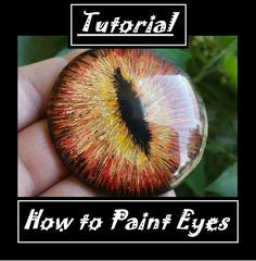 I finally got the tutorial on how I made Greymane's eyes finished and uploaded. Watch to learn the tools and techniques I used to create the eyes o. Realistic Eye Tutorial -Link in the Description Diy Resin Crafts, Egg Crafts, Eye Painting, Rock Painting, Dragon Eye, Dragon Mask, Glue Art, Cute Fantasy Creatures, Eye Tutorial