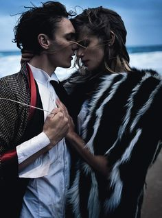 Julia Stegner & Eamon Farren by Will Davidson for Vogue Australia August 2013