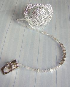 Baby Bling Prince Diamond Swarovski Crystal Binky Bling  Name Attacher . $24.99, via Etsy.