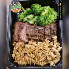 Organic Grass Fed Angus Steak broccoli and whole wheat pasta. Lunch Meal Prep, Meal Prep Bowls, Healthy Meal Prep, Healthy Snacks, Healthy Eating, Healthy Recipes, Snacks Recipes, Dinner Recipes, Fitness Meal Prep