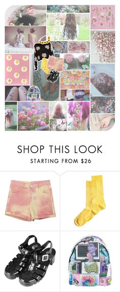 """""""✿ Flowers in my hair ✿"""" by kawaii-gali ❤ liked on Polyvore featuring Burlington, Topshop, Jeremy Scott, floral, Flowers, pale, pastel and alternative"""