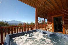 Mountain View Retreat hot tub.  www.tennesseecabinrentalllc.com