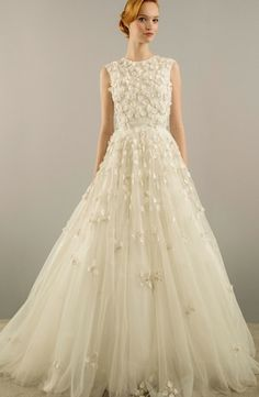 High Neck Princess/Ball Gown Wedding Dress  with Natural Waist in Tulle. Bridal Gown Style Number:33251877