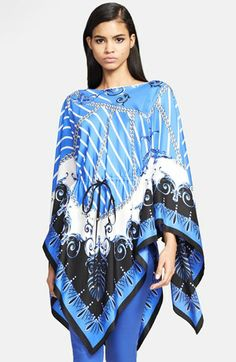 Versace Collection Chain Print Silk Caftan available at #Nordstrom