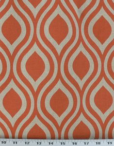 Medium Weight Drapery / Light Weight Upholstery This geometric print is printed in orange on a natural linen-like fabric. Part of the Premier Prints Designer Collection, this fabric has a . Fabric Dining Chairs, Chair Fabric, Drapery Fabric, Mid Century Modern Fabric, Basket Liners, Kitchen Window Treatments, Cushion Fabric, Fabric Swatches, Natural Linen