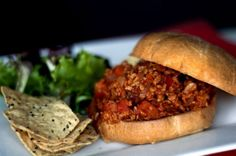 Sloppy Joes are perfect for #SuperBowl parties, including this meatless version. #vegan