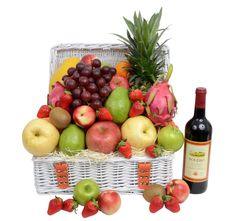 Search results for: 'signature-hampers fruit-hampers corporate-wine-fruit-hamper' Fruit Hampers, Gift Hampers, Pineapple Gifts, Beautiful Fruits, Large Baskets, Grapefruit, Pear, Blueberry, Wine