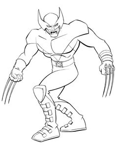 Superhero X Men Wolverine Coloring Page Free Printable Pages