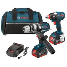 Bosch Tools 18V 1/2'' Hammer Drill & Socket Impact Driver Combo CLPK224-181 NEW