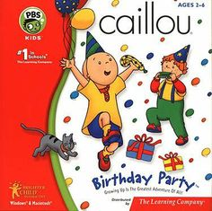 Caillou - Birthday Party (Party Fun & Games) . $11.48. Growing Up Is the Greatest Adventure of All! Product Information #1 in schools Join Caillou and all his friends from the award-winning PBS series for a fun-filled celebration! Happy birthday, Caillou! This will be the best birthday party ever as you join your favorite characters from this hit PBS series for a celebration that´s also a learning adventure! You choose from one of four party themes so you can choose the learni...