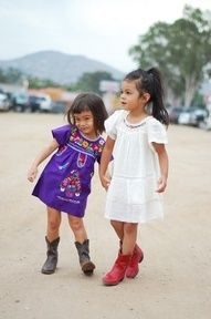 omg my future girl(s) are soo rockin this style. que viva Mexico!