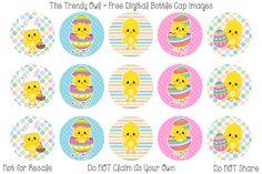 Cute Easter Chick! ~ FREE Digital Bottle Cap Images!! https://www.facebook.com/thetrendyowlUS http://www.thetrendyowl.com