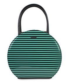 Look at this Blue & Black Stripe Hat Box Purse on #zulily today!