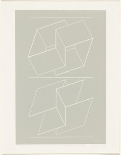 Josef Albers. WEG IX from White Embossings on Gray (WEG). 1971