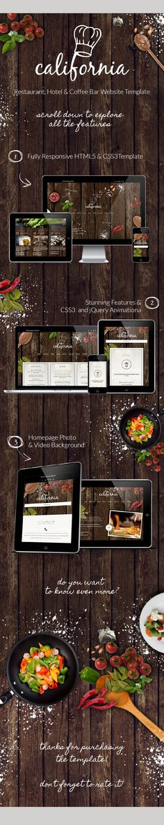 Site Templates - California - Restaurant Hotel Coffee Bar Website | ThemeForest