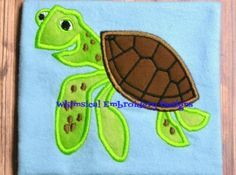 Squirt Turtle Finding Nemo Applique Machine Embroidery Design INSTANT DOWNLOAD