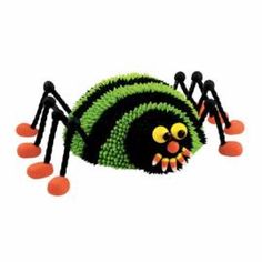 This kooky creature covers lots of ground—at Halloween parties, birthday celebrations and more. Combine Soccer Ball and Mini Ball Pans to create the body and head; add licorice legs connected with gum drops and this slinky creature comes to life. Watch our online video.