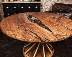 custom order for elizabet from US - Live edge tables etc - Resin Wood Wood Slab Table, Round Wood Table, Wooden Dining Table Designs, Epoxy Wood Table, Walnut Table, Wooden Dining Tables, Dining Room Table, Pedestal Tables, Live Edge Furniture