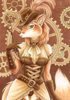 Steampunk Fox | Steampunk Fox - furries Fan Art