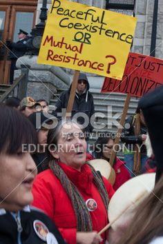 Drummer at Idle No More Rally - Victoria Royalty Free Stock Photo