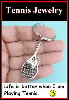 Jewels Obsession Tennis Racquets Pendant Sterling Silver 30mm Tennis Racquets with 7.5 Charm Bracelet