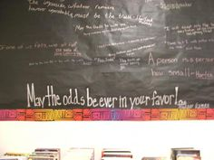 Graffati wall with student's book quotes