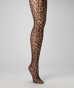 Black Leopard Tights