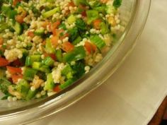 Israeli couscous recipe ideas for vegetarian and vegans: Israeli Salad with Pearl Couscous and Tomatoes